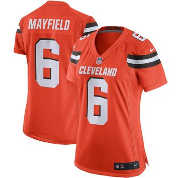 Women's Cleveland Browns Baker Mayfield Nike Orange Player Game Jersey