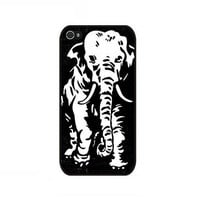 Rubber Case retro grunge elephant case for iPhone 4 and iPhone 4s