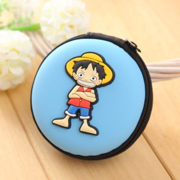 Brand New Japan Anime One Piece Luffy Round purse Coin Bag