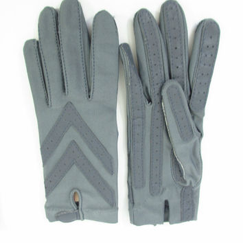 Vintage Gray Gloves for Driving Isotoner by Aris by ItchforKitsch