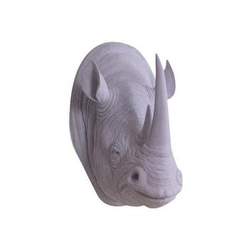 The Serengeti | Large Rhino Head | Faux Taxidermy | Lavender Resin