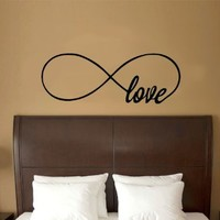 "Love Infinity Symbol Vinyl Wall Decal Sticker Art (X X Large 21"" X 60"")"