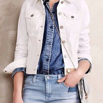 Anthropologie Pilcro Classic Denim Jacket Sz S - NWT