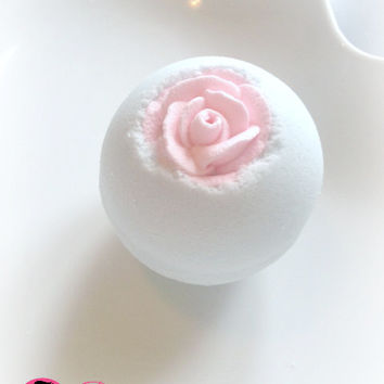 Candied Flower Bath Bomb Fizzy - Handmade Bath and Body - Bath Soak - Vegan - 4oz