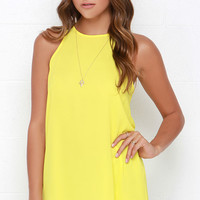 At First Crush Yellow Top