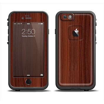 The Walnut WoodGrain V3 Apple iPhone 6 LifeProof Fre Case Skin Set