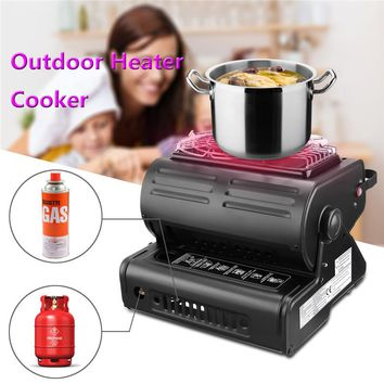 Outdoor Heater Cooker Aluminum Alloy Portable Outdoor Stove Camping Tent Portable Gas Stove Tent Accessories Outdoor Tool