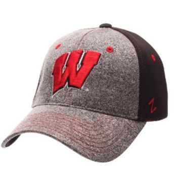 Wisconsin Badgers Zephyr Graphite Two Tone Stretch Fit Hat