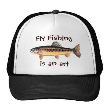 Fly Fishing is an Art Golden Trout Hat from Zazzle.com