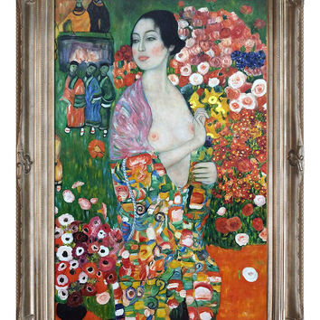 Overstock Art Die Tanzerin (The Dancer), 1916 - 18 by Gustav Klimt (Canvas)
