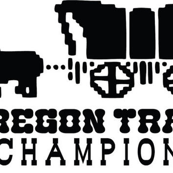Oregon Trail Champion Decal Stickers