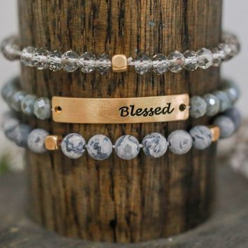 BLESSED BRACELET - LIGHT GREY