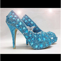 Blue Zion Snow Diamond Platform by MDNY