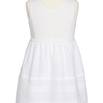 Toddler Girl's Burberry Mixed Media Sleeveless Dress,