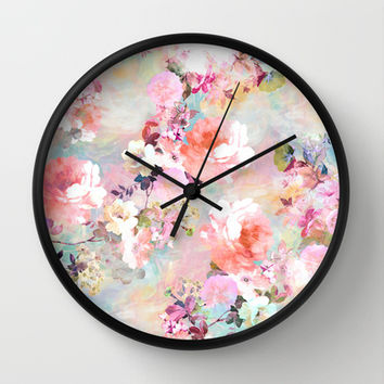 Love of a Flower Wall Clock by Girly Trend