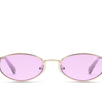 Quay Showdown Gold Sunglasses / Purple Lenses