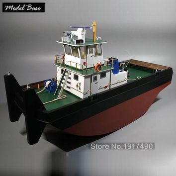 Wooden Ship Models Kits Educational Toy Model-Ship-Assembly Wooden 3d Laser Cut DIY 1/35 Pushing Springer Tug Suite 2015 Models