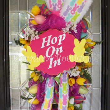 Easter Door Swag, Easter Wreath, Spring Wreath, Easter Decoration, Door Hanger, Front door wreath, Wreath for door, Spring Decor