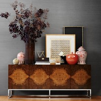 Wythe Burled Wood Double Console