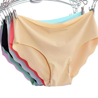 Moodeosa New 1pcs Women Invisible Underwear Briefs Cotton Spandex Gas Seamless Crotch Panties Hot