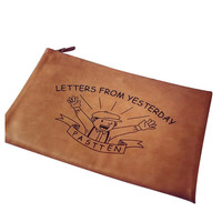 Letter Print Clutch Bag in PU