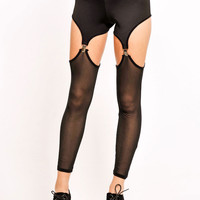 Effemy Solid & Sheer Suspender Leggings