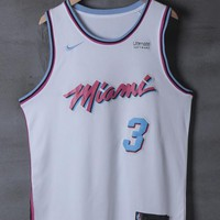 Miami Heat #3 Dwyane Wade Nike City White Edition NBA Jerseys - Best Deal Online