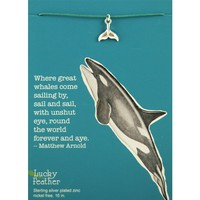 Aquarium Necklace - Whale Tail