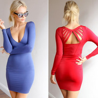 Fashion sexy bandage tight dress BV1011E
