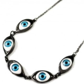 Eye Link Design Chain Necklace
