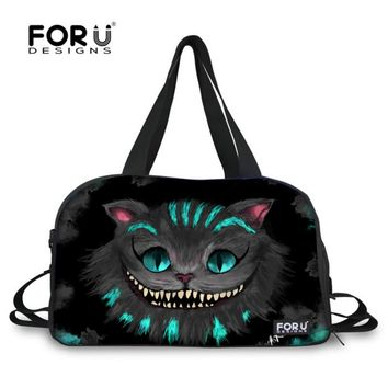 FORUDESIGNS Cats Cute Women Travel Bags Carry on Luggage Bag Duffle Traveling Handbag Zipper Weekend Large Shoulder Totes Newest