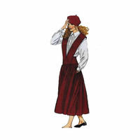 1990's McCall's 4977 Woman's Jumper, Shirt and Petticoat Size 8 or 10 || Bust 31 1/2-32 1/2in / 80-83cm || Sewing Pattern UNCUT