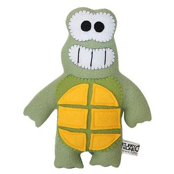 "Furry Feline Creatives Dude the Turtle Plush 12"" Classic"