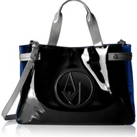 Armani Jeans Patent Rj East West Tote