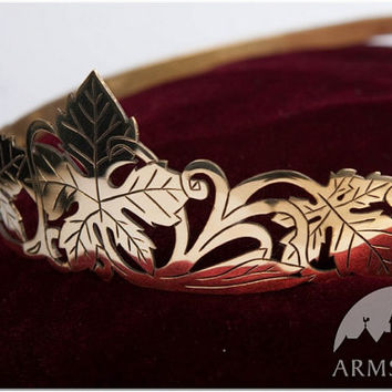 "Medieval Tiara ""Forest Princess""; wedding crown; bridal crown; princess crown"