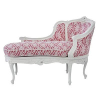 Marcela Chaise in Antico White Finish