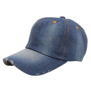ONETOW Best Deal New Fashion Spring And Summer Men's Women's Jean Sport Hat Casual Denim Baseball Cap Sun Hat Gift 1PC