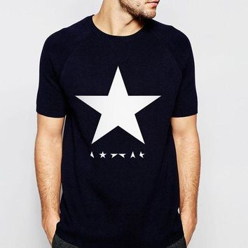 PEAPFS2 2017 summer David Bowie black star men t shirts 100% cotton high quality streetwear casual hipster tops tees  brand t-shirt