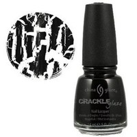China Glaze Crackle Glaze Nail Polish - Black Mesh - 0.5 oz