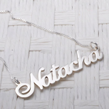 Alana Name Necklace - Sterling Silver