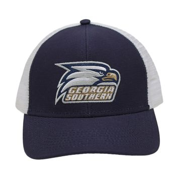 Georgia Southern University Screaming Eagle Mesh Back Hat in Navy by Peach State Pride