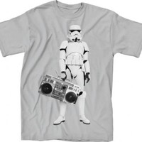 Star Wars Storm Trooper My Radio Adult Silver T-Shirt - Star Wars - | TV Store Online