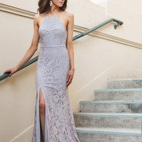 Camila Grey Lace Maxi Dress