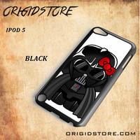 Anakin Skywalker Darth Vader Hello Kitty Star Wars Black White Snap On 3D For Ipod Touch 5 Case