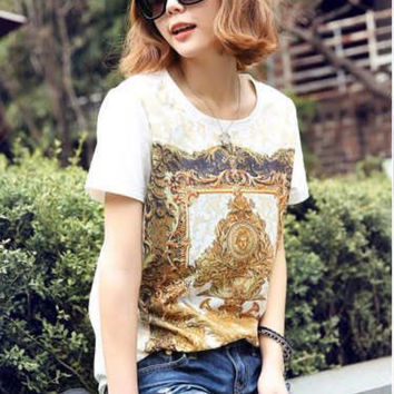 New Hot Fashion Womens Casual Blouse Short Foever21 Like Sleeve Shirt T shirt Summer Blouse Tops = 4721367236