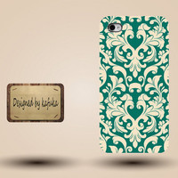 Iphone case, Iphone 4 case, Iphone 4s case, Iphone 5 case, unique handmade hard Plastic case,  yellow,green, floral ,