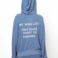 Wildfox Hoodie With Paradise Wish List Print