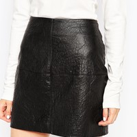 ASOS Textured PU Mini Skirt