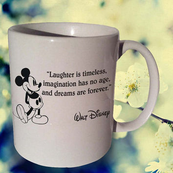 LAUGHTER IS TIMELESS Walt Disney coffee mug,tea mug