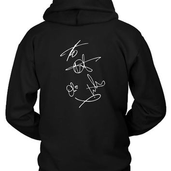 Bring Me To The Horizon Bmth Signatures Hoodie Two Sided